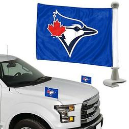 Toronto Blue Jays 2-Pack Ambassador Style Auto Flag Car Bann