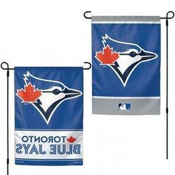 """Toronto Blue Jays 2 Sided Garden Flag 12.5"""" x 18""""  MLB Fan Y"""