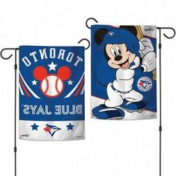 Toronto Blue Jays 2-Sided Mickey Mouse Garden Flag MLB Licen