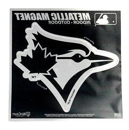 "Toronto Blue Jays 6"" Metallic MAGNET Silver Style Die Cut Au"