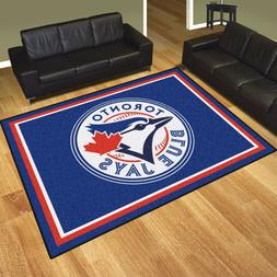 Toronto Blue Jays 8' X 10' Decorative Ultra Plush Carpet Are