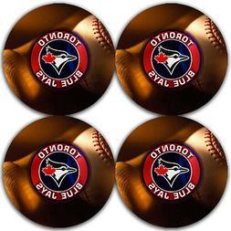 Toronto Blue Jays Baseball Rubber Round Coaster set  / RNDRB