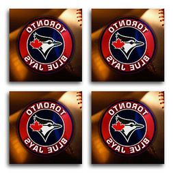 Toronto Blue Jays Baseball Rubber Square Coaster set  SRC202