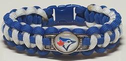Toronto Blue Jays Blue & White Handmade Paracord Bracelet OR