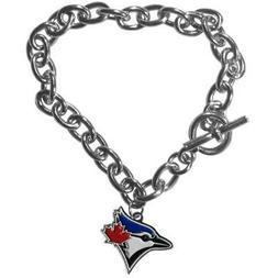 Toronto Blue Jays Charm Chain Link Bracelet  MLB Wrist Necka