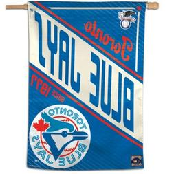 """TORONTO BLUE JAYS COOPERSTOWN COLLECTION 28""""X40"""" BANNER FLAG"""