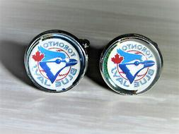 Toronto Blue Jays Cufflinks made from Baseball Trading Cards