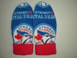 TORONTO BLUE JAYS  FLEECE womens  MITTENS MLB HANDCRAFTED wi