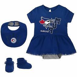 Toronto Blue Jays Girls Newborn & Infant Diamond Bodysuit, B