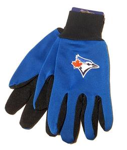 Toronto Blue Jays Gloves Non Slip Work Utility Adult MLB Bas