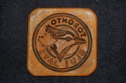 Toronto Blue Jays Hand Embossed Leather Coasters