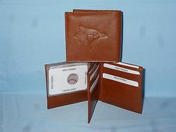 TORONTO BLUE JAYS   Leather BiFold Wallet    NEW    brown 4