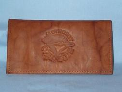 toronto blue jays leather checkbook nib by