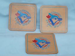 TORONTO BLUE JAYS   Leather Coaster Set   PACK of 3    by Ri