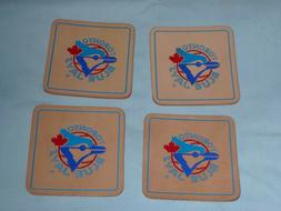 TORONTO BLUE JAYS   Leather Coaster Set   PACK of 4    by Ri