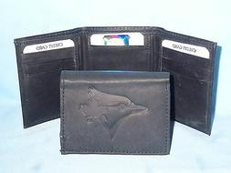 TORONTO BLUE JAYS    Leather TriFold Wallet    NEW    black