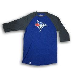 Toronto Blue Jays Men's Blue/Gray 3/4's Sleeve Majestic T-sh