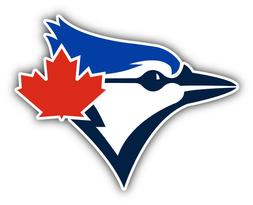 Toronto Blue Jays MLB Baseball Head  Car Bumper Sticker - 3'
