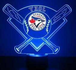 Toronto Blue Jays, MLB Baseball Light LED Sports Fan Lamp, P