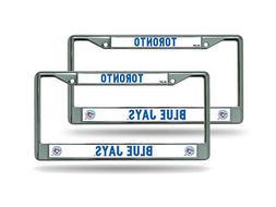 Toronto Blue Jays MLB Chrome Metal  License Plate Frame Set