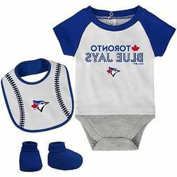 Toronto Blue Jays Newborn Baseball Kid Bodysuit, Bib & Booti