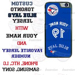 TORONTO BLUE JAYS PHONE CASE COVER WITH NAME&No. FITS iPHONE