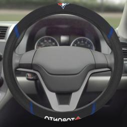 Toronto Blue Jays Premium Embroidered Black Auto Steering Wh