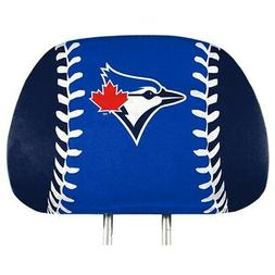 Toronto Blue Jays PRINTED Color 2-pack Head Rest Covers Elas