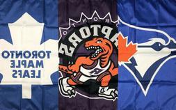 Toronto Blue Jays Raptors Maple Leafs Flag 3x5 ft Sports Ban