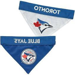 Toronto Blue Jays Reversible Bandana Pet Collar - Royal/Whit