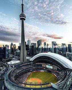 Toronto Blue Jays Rogers Center - Skydome Color Aerial View