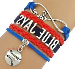TORONTO BLUE JAYS TEAM BRACELET, MLB Bracelet, baseball, Inf