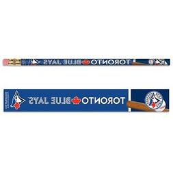 TORONTO BLUE JAYS TEAM LOGO 6-PACK PENCILS BRAND NEW FREE SH