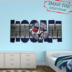 Toronto Blue Jays Wall Decal Art Custom Name Sticker Basebal