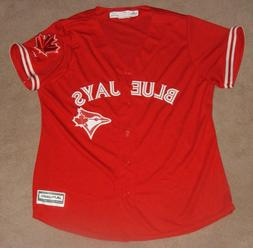 TORONTO BLUE JAYS MAJESTIC WOMENS CANADA DAY W/ MAPLE LEAF S