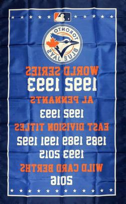 Toronto Blue Jays World Series Championship Flag 3x5 ft Spor