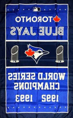 Toronto Blue Jays World Series Championship Flag 3x5 ft Blue