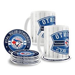 Toronto Blue Jays15oz Barn Board Mug Set with 8 Pack Coaster