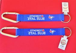 TWO  BEAUTIFUL AND HANDY, TORONTO BLUE JAYS  CARABINER KEYCH