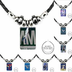 For Women Kids Black Leather Bead <font><b>Pendant</b></font